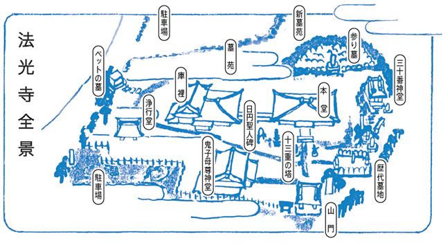 法光寺の案内図