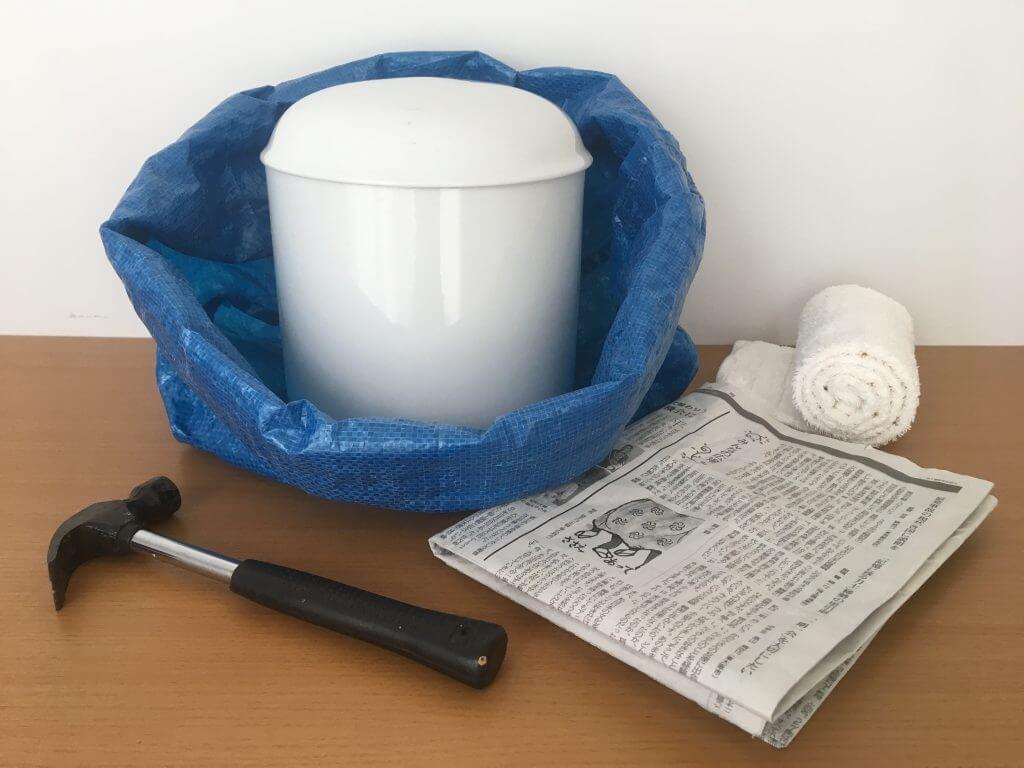 骨壺を処分する道具